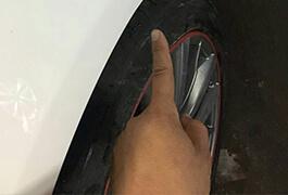 宝马凹陷修复车漆修补